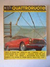 QUATTRORUOTE 81 1962 DKW Junior De Luxe Vauxhall 4/90 Morris 1100 [Q2]