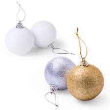 Décorations de sapin de Noël boules blanches