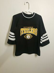 """NFL Pittsburgh Steelers Youth Black 3/4 Sleeve Jersey Size M. Condition is """"Used"""