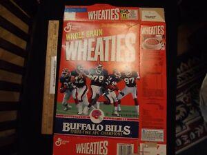 1993 Wheaties Buffalo Bills Three Time AFC Champions Flat Empty Box Smith Kelly