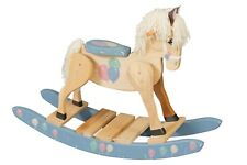 Childs Wooden Rocking Horse Amish Built Solid Poplar Painted Wood Toy!