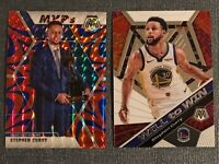 2019-20 Mosaic STEPHEN CURRY Blue Reactive MVP Prizm and Will to Win Base