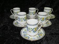 Set of 6 China Coffee Cups & Saucers PARAGON COMTESSA