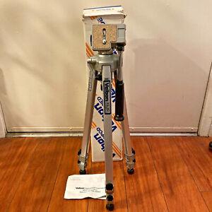 "VELBON VG-3C Professional Aluminum Tripod 22""-60"" Silver Camera Video Adjustable"