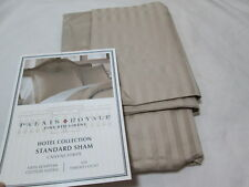 Palais Royale Hotel Collection CANVAS STRIPE Standard Sham ~ 630 TC ~  Tan NEW