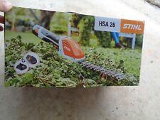 Stihl Hsa 26 battery powered garden shear set , ( open box)