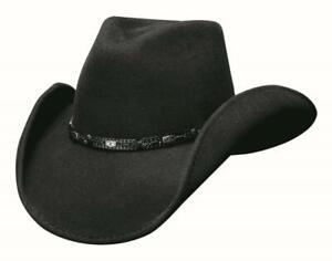 New WILD HORSE Black QUALITY Premium Wool Western Cowboy Hat Bullhide MonteCarlo