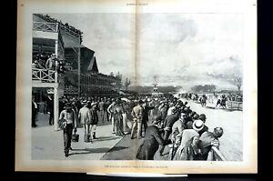 Horse Racing 1892 SUBURBAN HANDICAP LONGFORD ALAN BANE RACELAND MORROW Lg Print