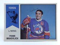 1974-75 Frank Mahovlich #40 Toronto Toros O Pee Chee Wha Ice Hockey Card H362