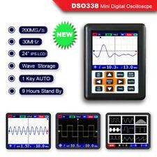 AC/DC O120 DSO338 30MHz 200MSa/S Mini IPS LCD Digital Oscilloscopes Portable Set