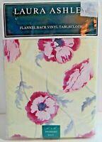 "Laura Ashley Flannel Back Vinyl Tablecloth Freshford 52"" x 52"" Square New"