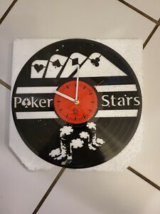Poker Star Vinyl Record Wall Clock Poker Hand Wall Clock