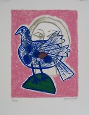 GUILLAUME CORNEILLE 1922 - 2010 ORIGINAL SIGNED LITHOGRAPH ED 100 PIGEON 1998