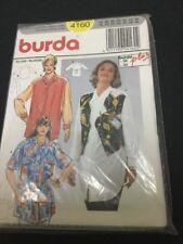 burda Pattern # 4160 Size 18-30 Uncut From 1990s Blouses