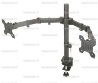 "ZM Basic Dual LCD Monitor Mount Stand Desktop Clamp - up to 27"" (002-0007)"