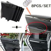 For Honda Civic 2016-2018 Door Panel + Armrest Cover Surface Shell Trim Black X8