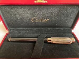 Cartier Pasha de Cartier Black Composite Platinum Finish ballpoint pen
