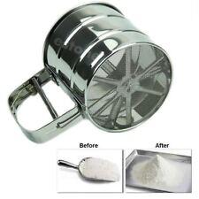 Stainless Mechanical Flour Sugar Icing Mesh Sifter Shaker Baking Kitchen Tool