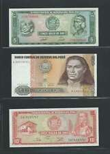 Pérou  Lot de 3 billets différents  en état NEUF Lot Numéro 6