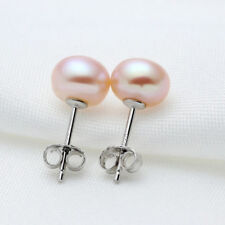 Lady New Jewelry Freshwater Pearl Earrings Stud Party Ladies New Stud Earring