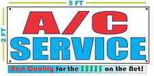 AC SERVICE Banner Sign NEW Larger Size Best Quality for the $$$ Red White Blue