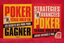 Poker Texas hold'em - Lot de 2 Livres grand format - Occasion