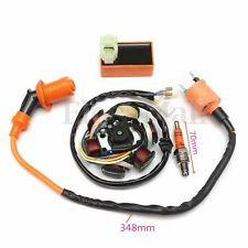 Moped Magneto Stator Racing Ignition Coil CDI Spark Plug GY6 49 50cc ATV Scooter