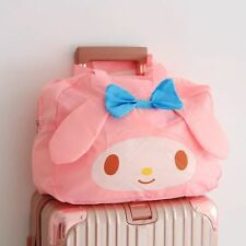 Sanrio My Melody Kawaii Mignon Pliable Stockage de Bagages Holdall Duffle 3D Rose Sac