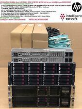 HP MSA2040 10Gbit iSCSI 12TB SSD & 15K SAS DL380p Gen8 V2 512GB 48 Core SAN