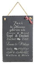 Schild mit Spruch witzig Zwei die zusammen Schiefertafel Hochzeit Geschenk Deko