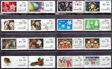 2009-2017 EIRE Ireland SOAR Post & Go Christmas Nollaig Set Of 16 Used Labels