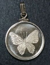 Butterfly Swallowtail Collectible 1/10 Troy Oz .999 Fine Silver Vintage Round