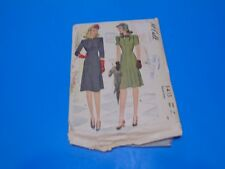 McCall Sewing Pattern 5413 Womens Dress Size 14 Vintage 1940s