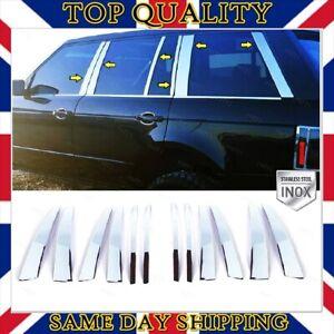Chrome Door Pillar Post Trim 12 pcs S.STEEL for Range Rover L322 Vogue 2002-2012