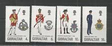 Gibilterra 1974 uniformi militari 6TH serie SG, 331-334 U/MM N/H LOTTO 5197 A