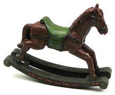 "Resin Rocking Horse Statue Sculpture Figurine Decor 9 x 7.25 x 2.6"""