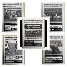 More details for 5 x sittingbourne home programmes  2008/09