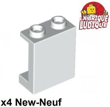 Lego - 10x Panel Panneau 1x2x2 Side Supports Hollow Studs blanc/white 87552 NEUF