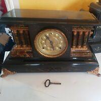 Antique E.N. Welch USA  Mantel Clock Eight Days Half Hour Strike