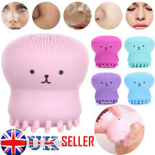 UK Silicone Electric Face Cleansing Brush Facial Cleaner Massage Scrub Cleanser
