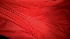 stoffa pelle scamosciata daino estensibile colletto rosso 100x140 cm