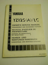YAMAHA YZ125 A / LC  OFFICIAL OWNERS  SERVICE  MANUAL