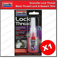 Granville Universal Thread Lock Lockthread Medium Strength Bond & Sealer 10ml
