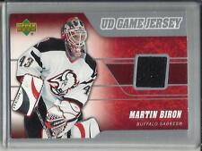 Martin Biron 06/07 Upper Deck Game Used Jersey