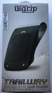 Aduro Wireless Bluetooth Hands Free Car Kit Speakerphone Speaker Phone Visor