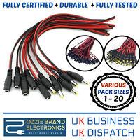 5/10/20pcs 12V Male Female DC Power Socket Jack Plug Wire Connector Cable CCTV