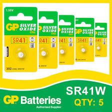 Gp oxyde d'argent bouton batterie 392 (SR41) carte de 5 [watch & calculatrice]