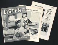 1937 RCA Radio Advertisement Saving Lives on Ship Airplane 6 Pages Vtg Print AD