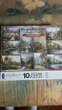 Thomas Kinkade 10 Jigsaw Puzzles, Painter of Light Collector's Edition Ceaco New