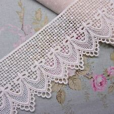 Vintage Scalloped Edge Cotton Embroidery Lace Trim Ivory 7cm Wide 1yard